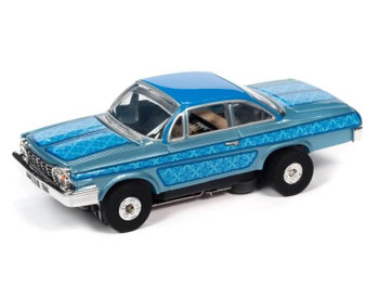 Auto World Thunderjet Ultra-G 1962 Chevy Bel Air blue HO slot car