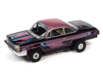 Auto World Thunderjet Ultra-G 1962 Chevy Bel Air black/purple HO slot car