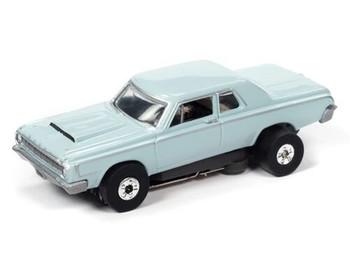 Auto World Thunderjet Ultra-G 1964 Dodge 330 Dick Landy light blue HO slot car