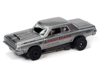 Auto World Thunderjet Ultra-G 1964 Dodge 330 Dick Landy gray HO slot car