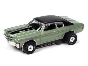 Auto World Thunderjet Ultra-G 1970 Chevy Chevelle SS green HO slot car