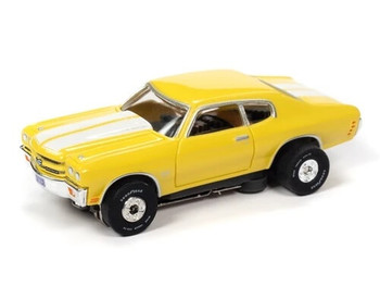 Auto World Thunderjet Ultra-G 1970 Chevy Chevelle SS yellow HO slot car