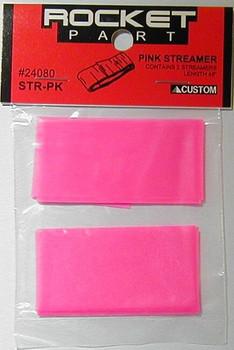 Custom 1.25 x 48 inch pink streamers 24080