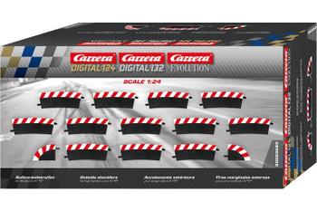 Carrera D124/D132/Evolution 4/15 degree high banked curve outside shoulders 20020580