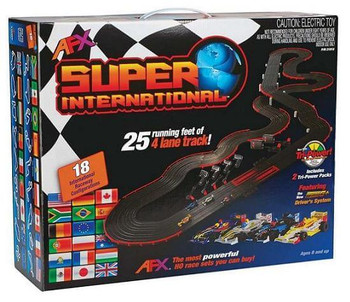 AFX Super International slot car set box
