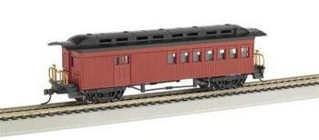 Bachmann 1860-1880 combine passenger car HO scale - red