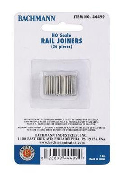 Bachmann HO scale rail joiners (36) 44499