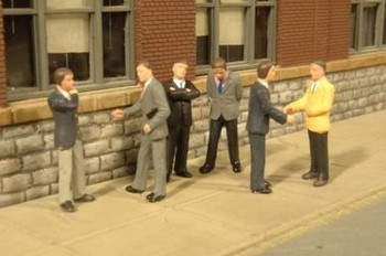Bachmann Scene Scapes businessmen HO scale figures 33112