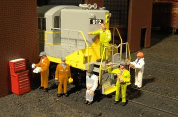 Bachmann Scene Scapes city mechanics HO scale figures 33113
