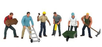 Bachmann Scene Scapes construction workers HO scale figures 33105