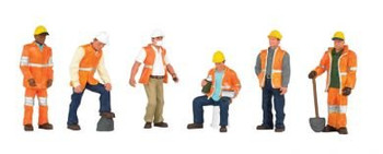 Bachmann Scene Scapes Maintenance Workers HO Scale Figures 33106