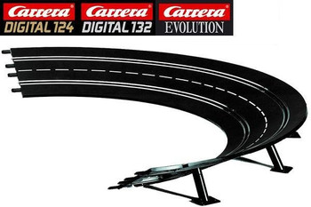 Carrera 2/30 degree high banked curve track 20020575