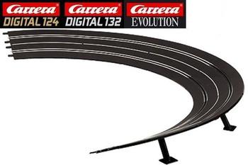 Carrera 3/30 degree high banked curve track 20020576
