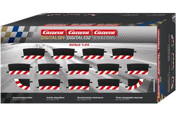 Carrera D124/D132/Evolution 4/15 degree curve inside shoulders 20020593