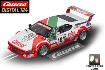 Carrera DIGITAL 124 BMW M1 Procar Team Castrol Denmark 1/24 slot car