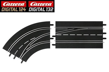 Carrera DIGITAL 132 LEFT lane change curve (out to in) 30363