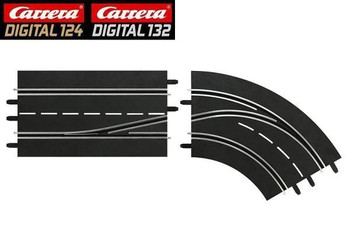 Carrera DIGITAL 124/132 RIGHT lane change curve (in to out) 20030364