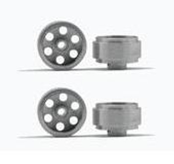 Hobby Slot Racing 16 mm x 10 mm Aluminum Wheels (4)