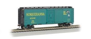Bachmann New York, Susquehanna & Western 40' box car - HO scale