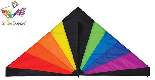 Rainbow Black 6 ft Delta Kite