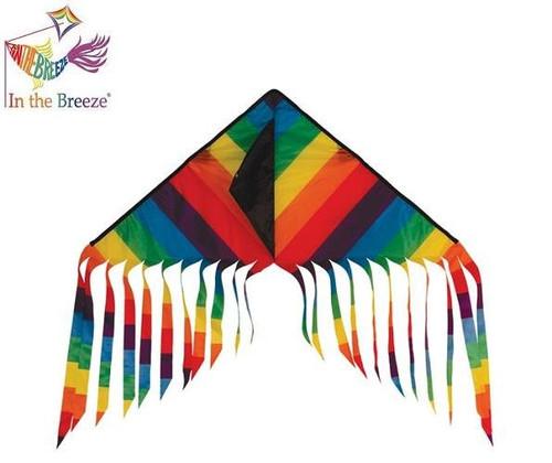 Rainbow Stripe Flutterfly Kite