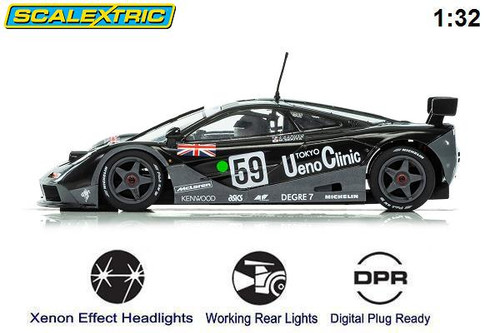 Scalextric McLaren F1 GTR Limited Edition 1/32 slot car side view