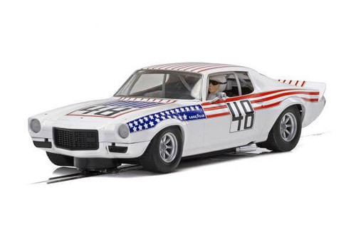 Scalextric 1970 Chevrolet Camaro Trans Am Stars n Stripes 1/32 slot car C4043