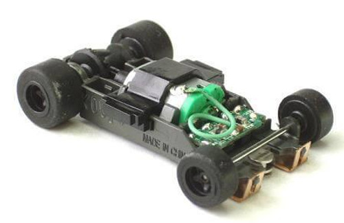AFX Mega-G+ Short RTR chassis for AFX 1.5 inch wheelbase HO scale slot car bodies