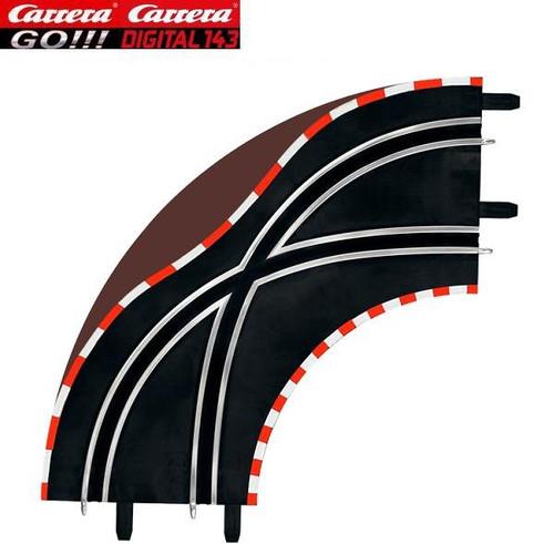 Carrera GO 1/90 degree lane change curves