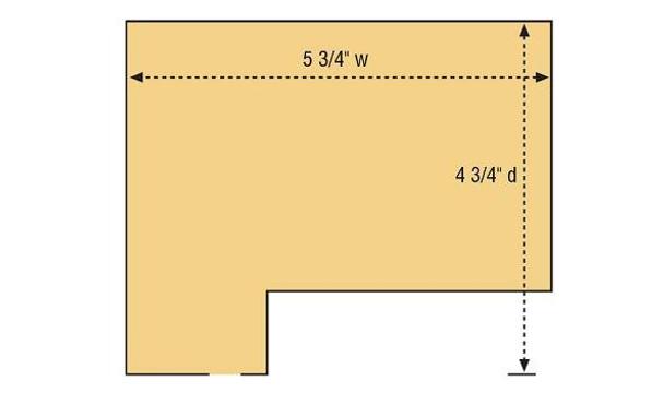 DPM Freight Depot HO scale building kit footprint