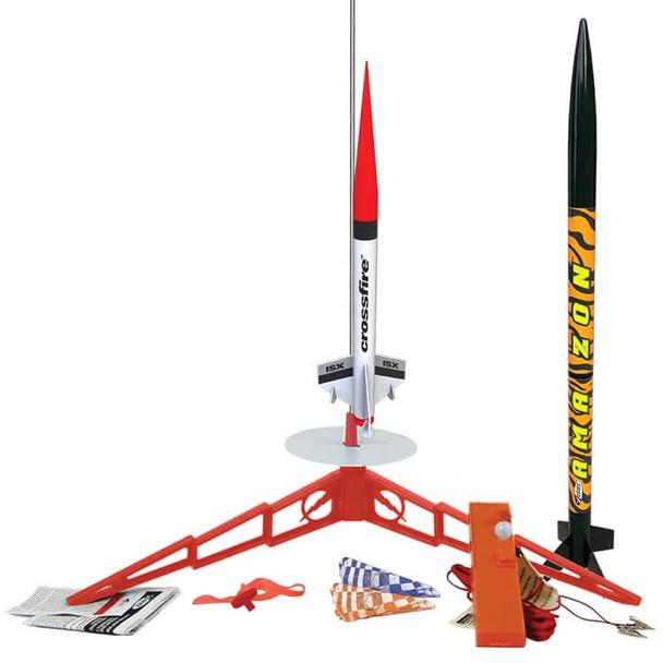 Estes Tandem-X flying model rocket launch set 1469
