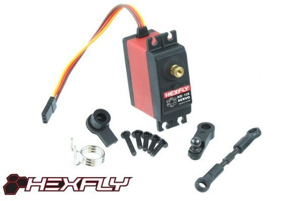 HEXFLY 15kg metal gear servo with servo saver BS213-015B