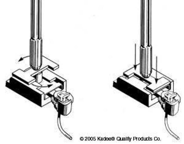 Kadee HO #230 Talgo-Truck Adaptor Insertion Pic