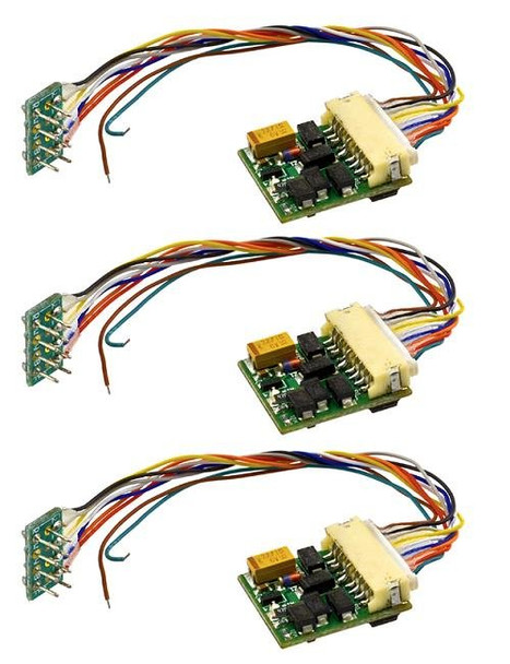 3 pack of MRC 1651 4 function HO DCC decoders