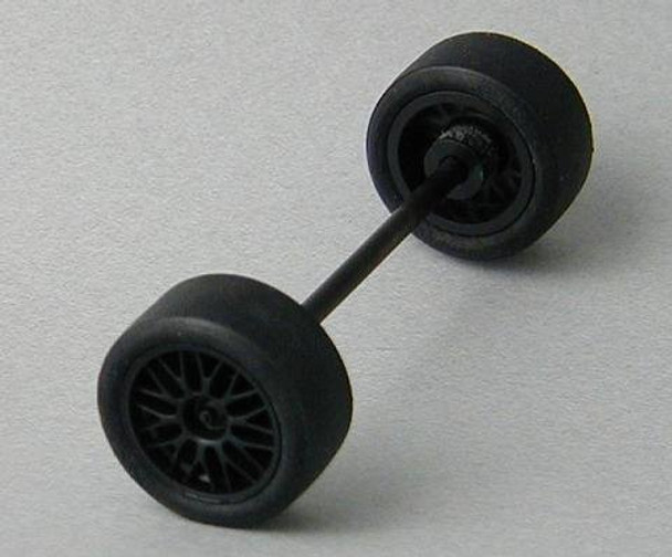 NINCO GT complete front axle assembly for 1/32 slot car