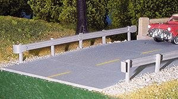 Pikestuff HO highway guardrails (3) 541-0012