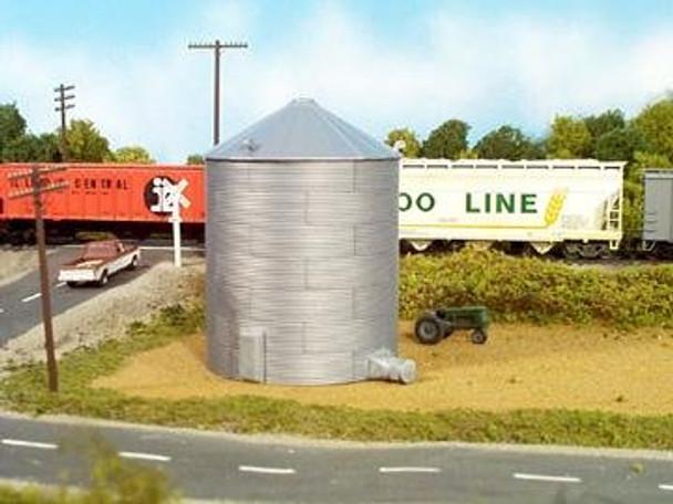 Rix HO scale 33' tall grain bin kit 628-0304