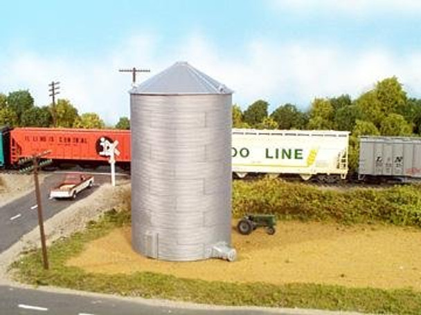 Rix HO scale 44' tall grain bin kit 628-0305