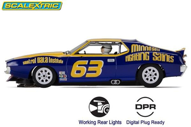 Scalextric AMC Javelin Trans Am Jockos Racing 1/32 slot car side view