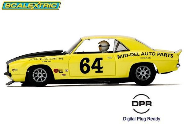 Scalextric Chevrolet Camaro 1969 1/32 slot car side view