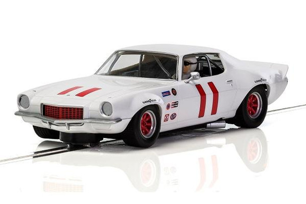 The Scalextric 1970 Chevrolet Camaro Trans Am is hard to beat against the other slot cars in it's class, thanks to a low profile body which really helps to keep the speeds up in the curves.