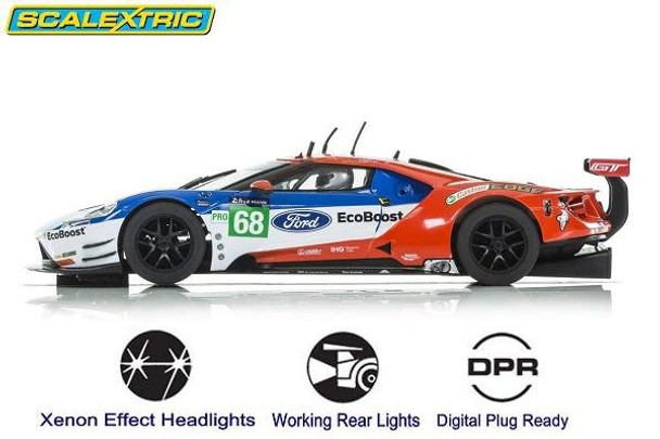 Scalextric Ford GTE Le Mans 1/32 slot car side view