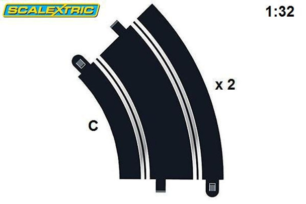 Scalextric R2 45° Curve C8206