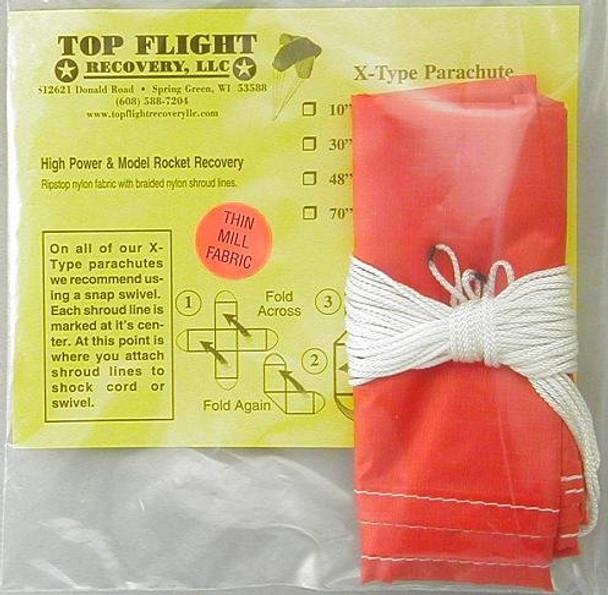 "Top Flight Recovery 24"" thin mill X-type nylon parachute XTPAR-24TM"