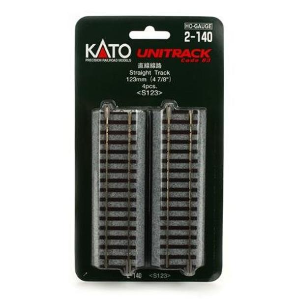 KATO Unitrack HO 4 7/8 inch HO scale straight track 2-140