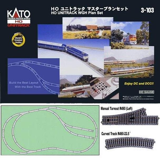 KATO Unitrack HO scale World's Greatest Hobby track set 3-103