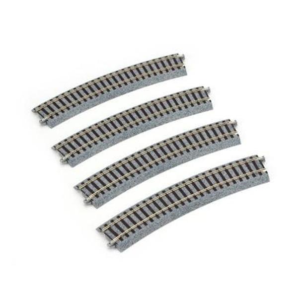 KATO Unitrack HO 19 1/4 inch radius 22.5 degree curve track 2-270