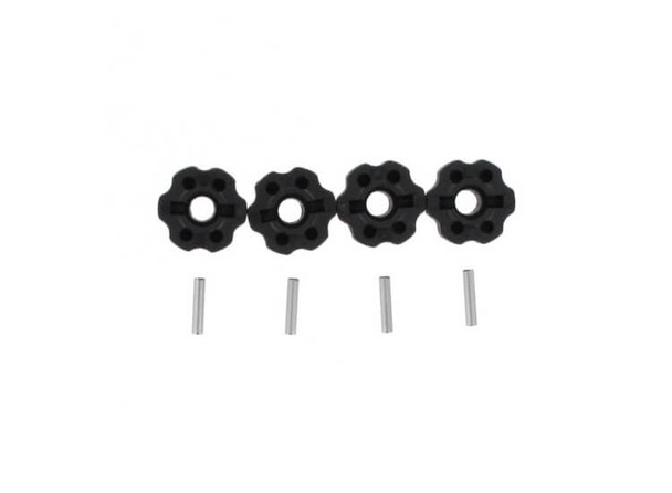 Redcat Racing Blackout plastic wheel hexes with pins BS213-006