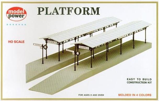 Model Power Station Platforms HO Scale Kit 478