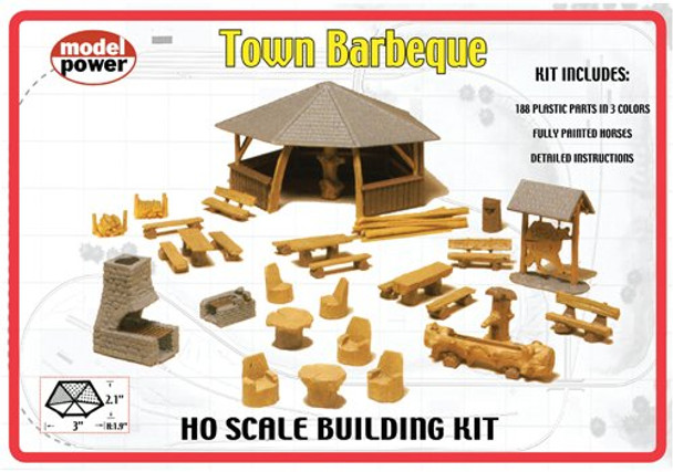 Model Power Town Barbeque HO Scale Kit #623